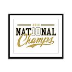 2010 National Champs Framed Panel Print
