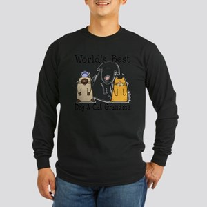 World's Best Dog and Cat Grandma Long Sleeve T-Shi