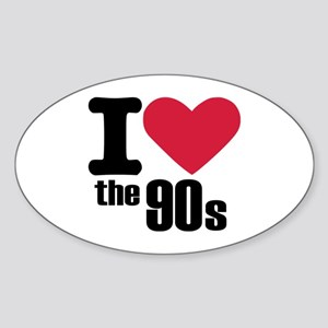 I love the 90's Sticker (Oval)