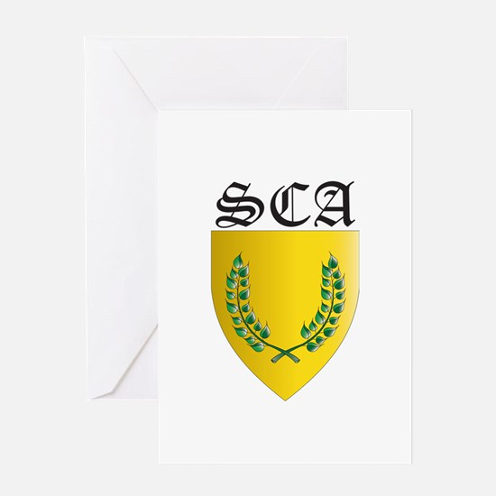 SCA Office Badges MOY Greeting Card