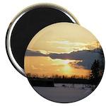 """Winter Sunset 0023 2.25"""" Magnet (10 pack)"""