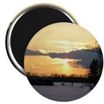 "Winter Sunset 0023 2.25"" Magnet (10 pack)"