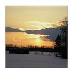 Winter Sunset 0023 Tile Coaster