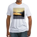Winter Sunset 0023 Fitted T-Shirt