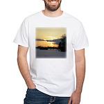 Winter Sunset 0023 White T-Shirt