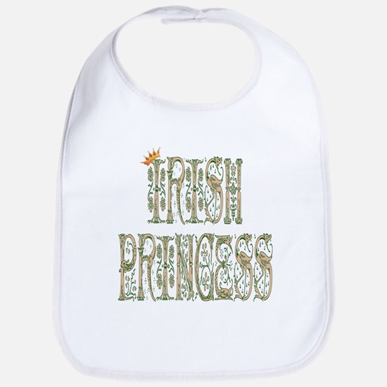 Irish Princess w/Crown (Fancy Font) Bib