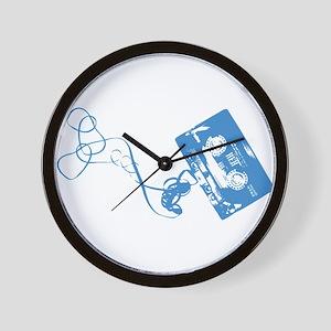 Music Tape Ripped Wall Clock