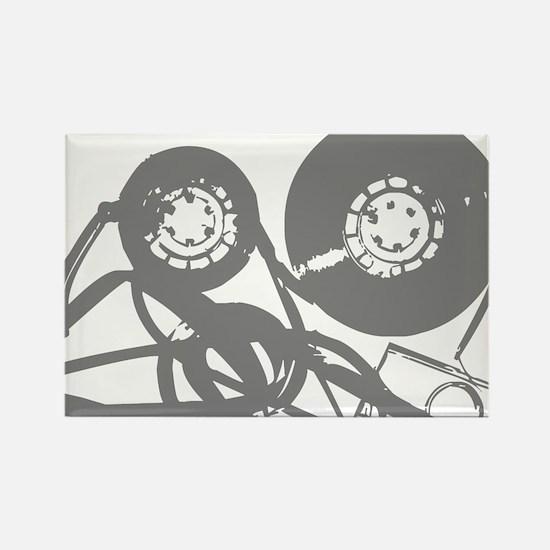 Music Tape Reels Rectangle Magnet