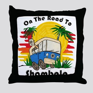 Road To Shambala Throw Pillow