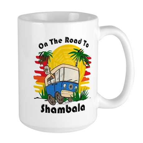 Road To Shambala Large Mug
