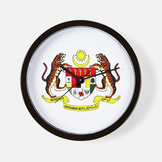 Malaysia Coat of Arms Wall Clock