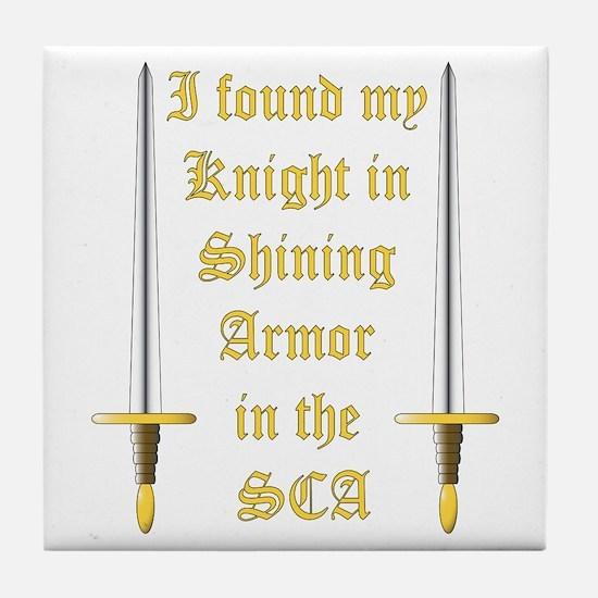 Knight in Shining Armor Tile Coaster