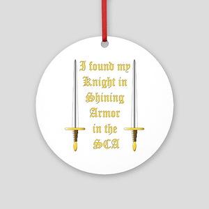 Knight in Shining Armor Ornament (Round)