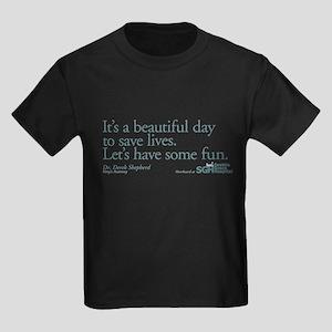 Save some lives. - Grey's Anatomy Kids Dark T-Shir