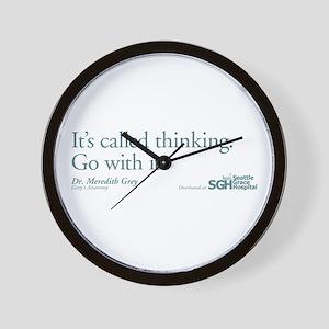 It's called thinking. - Grey's Anatomy Wall Clock