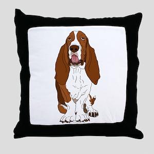 Classic Bassett Throw Pillow