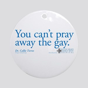 Pray Away the Gay - Grey's An Round Ornament
