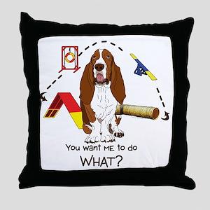 Bassett Agility Throw Pillow