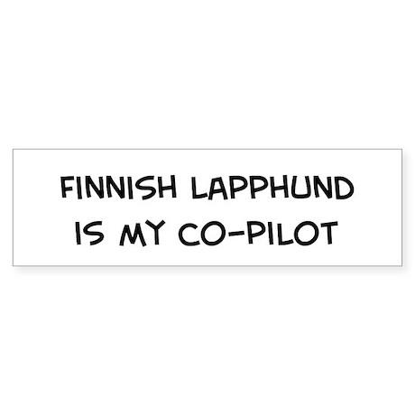 Co-pilot: Finnish Lapphund Bumper Sticker