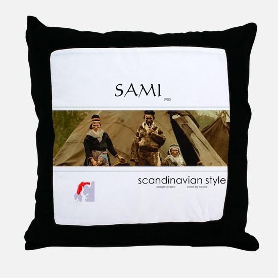 Sami family Throw Pillow