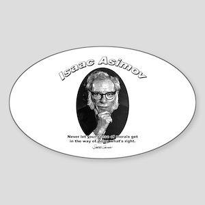 Isaac Asimov 02 Oval Sticker