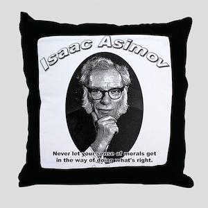 Isaac Asimov 02 Throw Pillow