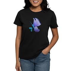 Lady Blue Butterfly Women's Dark T-Shirt