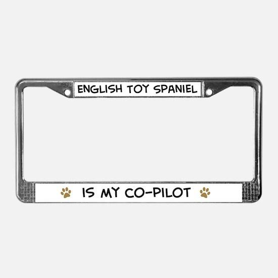 Co-pilot: English Toy Spaniel License Plate Frame