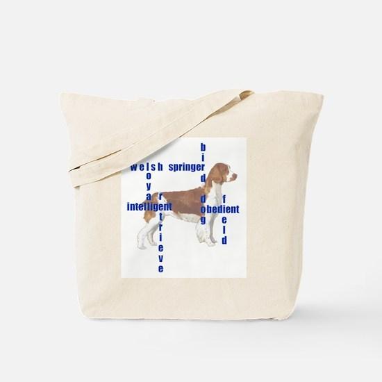 Welsh Springer spaniel Crossw Tote Bag