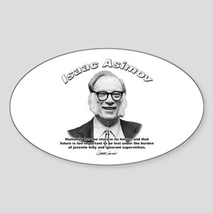Isaac Asimov 05 Oval Sticker