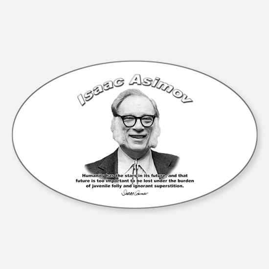 Isaac Asimov 05 Oval Decal