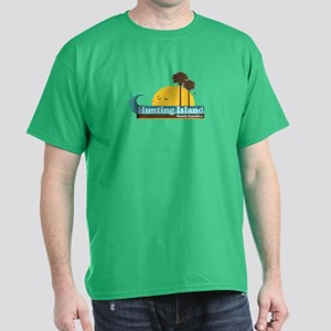 Hunting Island - Sun and Palm Trees Design. Dark T