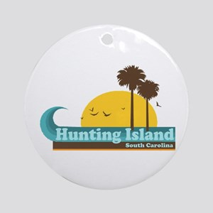 Hunting Island - Sun and Palm Trees Design. Orname