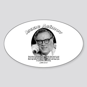 Isaac Asimov 06 Oval Sticker