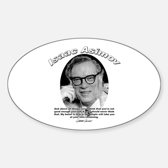 Isaac Asimov 06 Oval Decal