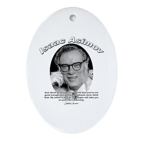 Isaac Asimov 06 Oval Ornament