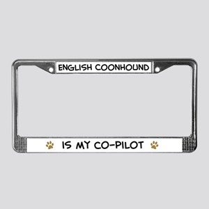 Co-pilot: English Coonhound License Plate Frame