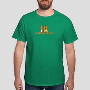 Hunting Island - Nautical Flags Design Dark T-Shir