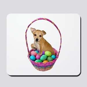 Puppy Easter Basket Mousepad