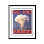 No Mo WMDs Framed Panel Print