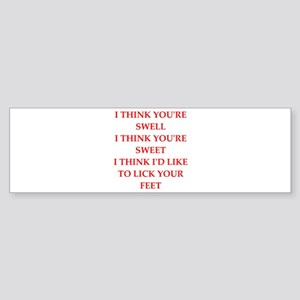 feet Bumper Sticker