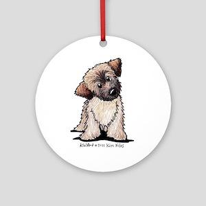 Curious Wheaten Puppy Ornament (Round)
