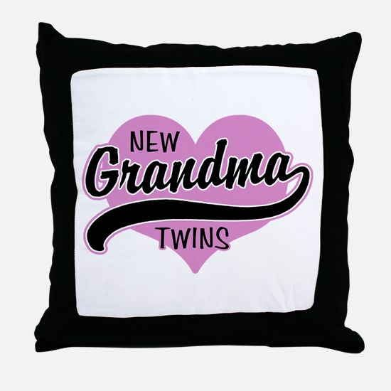 New Grandma Twins Throw Pillow
