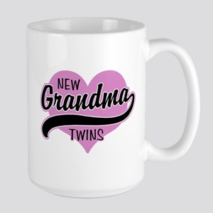 New Grandma Twins Large Mug