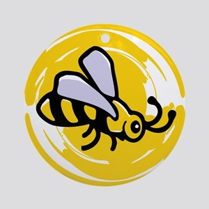 Bumblebee Round Ornament