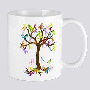 Ribbon Tree Large Mugs