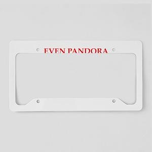 pandora License Plate Holder