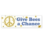 Give Bees a Chance Sticker (Bumper 10 pk)