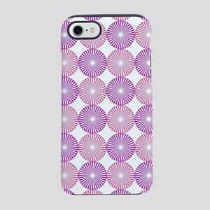 Pink and purple abstract circl iPhone 7 Tough Case