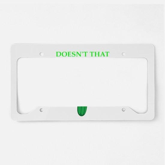 pickle License Plate Holder